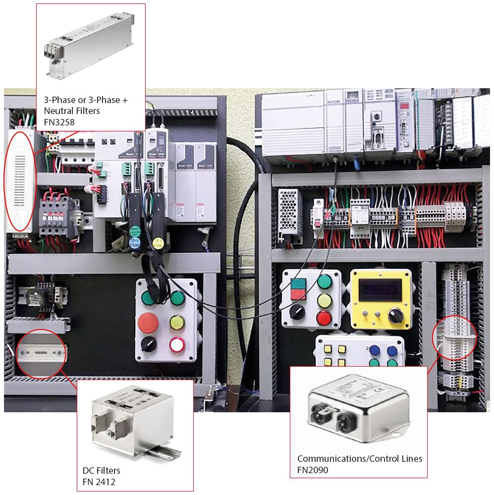 A Visual Guide To Emc Emi Filters Industrial Electronic Wiring Lighting