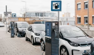 Compleo charging station including Schaffner EMI Filters in Munich